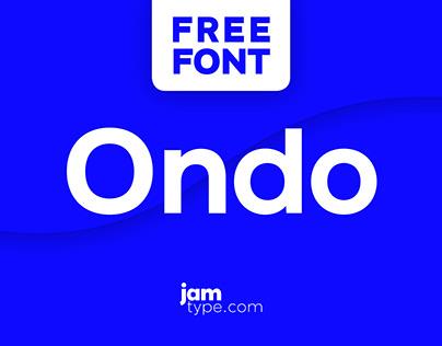 Ondo - Sans Serif Typeface