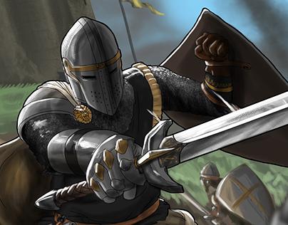Medieval Warrior Illustration
