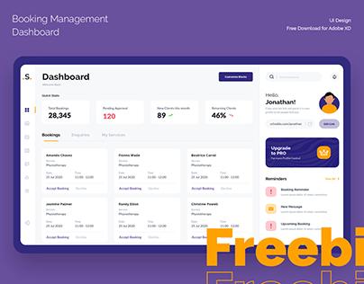 Freebie (XD) - Booking Management - Dashboard