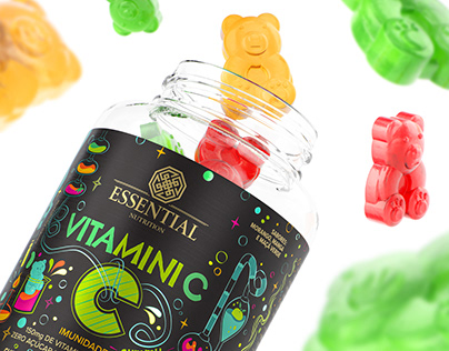 Essential Vitamins Gummies CGI