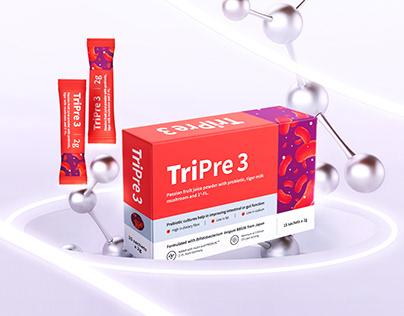TriPre 3 Probiotic Packaging   包 装 设 计
