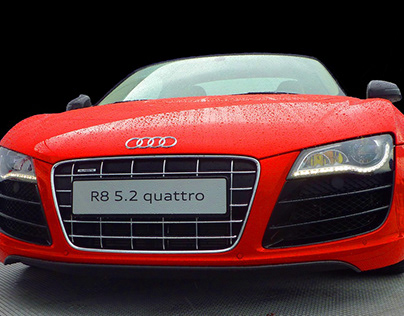 Red Sports Car Audi Quattro