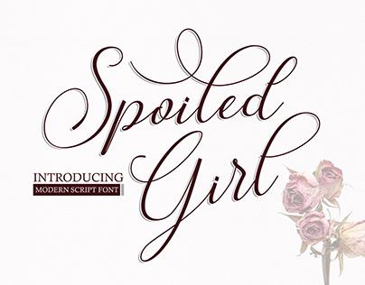 Spoiled Girl - Script Font