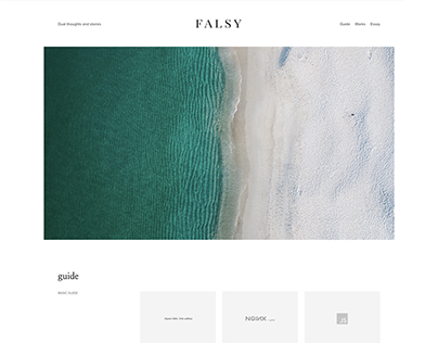 FALSY WEBSITE V.1
