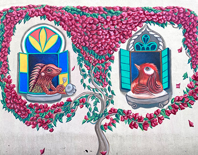 Home 2020 , mural on my own roof