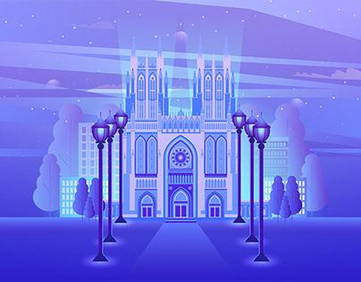 City illustration 01.