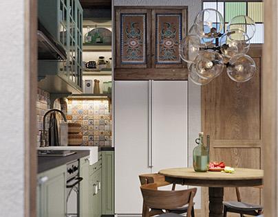 Provence studio interior. Design with Martin architects