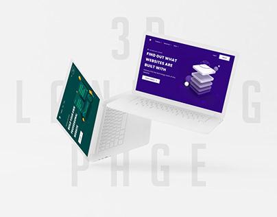 3D Landing Pages Design