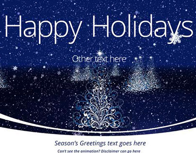 Three.js Holiday Card