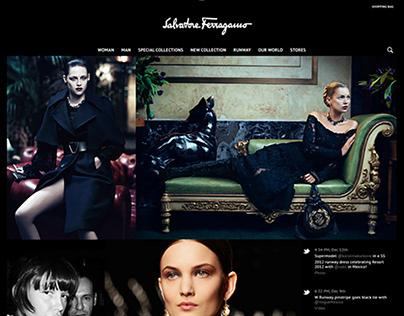 New Salvatore Ferragamo website / e-commerce