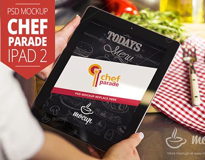 "Chef Parade iPad 2 Mockup ""B"""