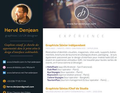 My latest résumé (in French)