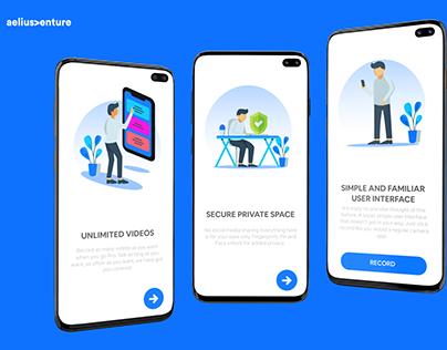 Walkthrough Screen for app