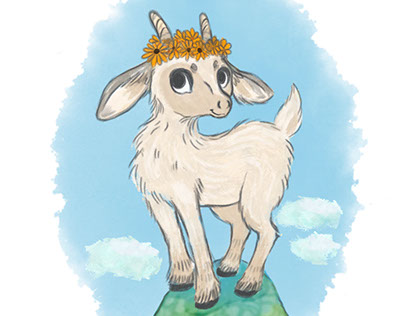 Lil'Billy Goat - Sticker Design