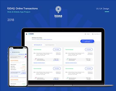 İGDAŞ Online Transactions Web & Mobile