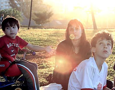 Family in Sunny Park