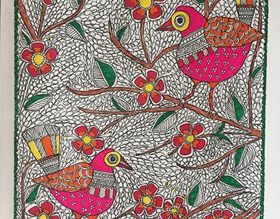 Madhubani inspired artwork