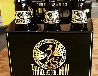 Three Legged Crow Craft Beer Label and Packaging Design