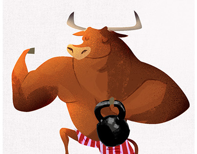 bull- character design illustration