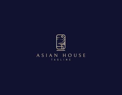 Asian house logo