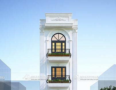Thiết kế nhà phố 4 tầng diện tích 5×11,5m phong cách Tâ