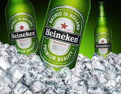 Heineken Beer Ice Composing