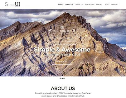 SimplUI - One Page Clean Parallax Responsive WordPress