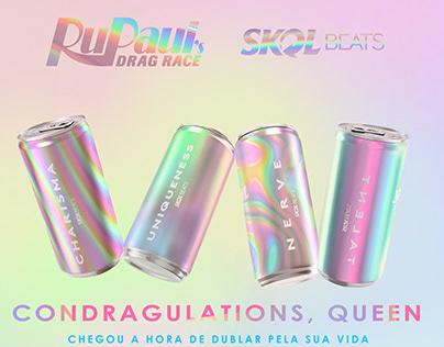 Anúncio QR Code Skol + Rupaul's Drag Race