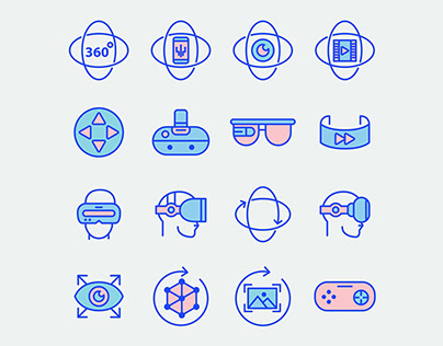 Virtual Reality Icons – Part 01