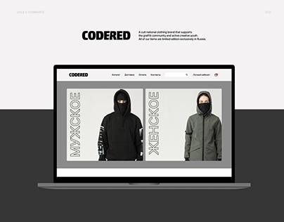 UX\UI E-commerce shop concept CODERED