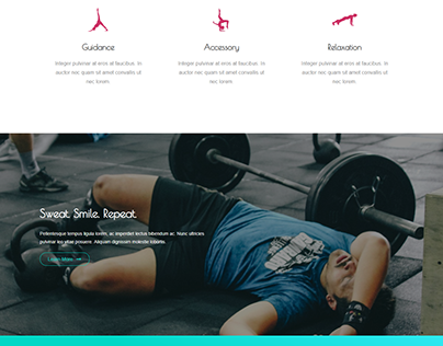Fitness Website Develop By WordPress
