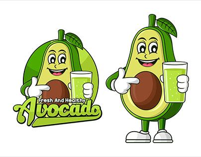 Avocado Juice Healthy food vector design