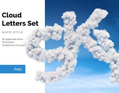 Cloud Letters Set