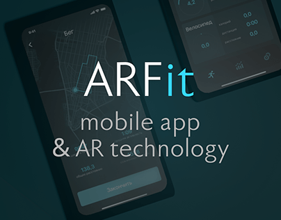 AR Fit mobile app concept