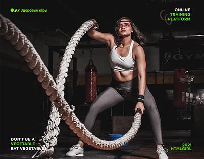 Fitness platform website design