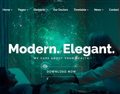 Medical WordPress Theme Home Slider