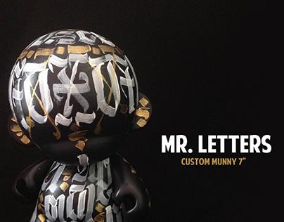 """""""Mr. letters"""" custom Munny"""