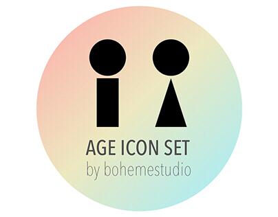 Minimalist age/gender icon set