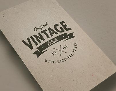 Vintage Logo Mockup Free Download