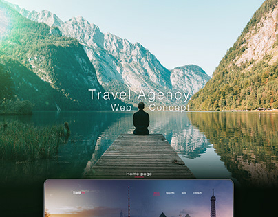 Travel agency web concept