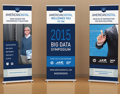 Retractable Banners for Tech Event