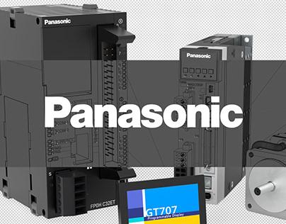 Panasonic - Industrial Website Component Renders