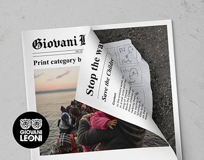 Giovani Leoni - Save the Children