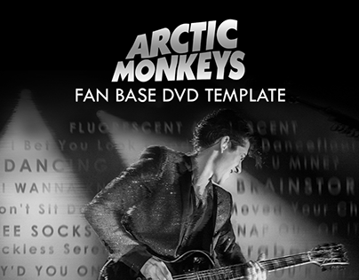 Arctic Monkeys Fan Base DVD Template