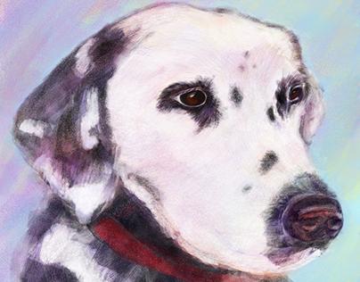 Daisy - A Fireman's Best Friend Digital Painting