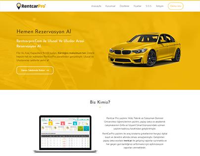 Rent a Car Landing Page Design