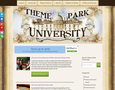 Theme Park University - Usability Improvements