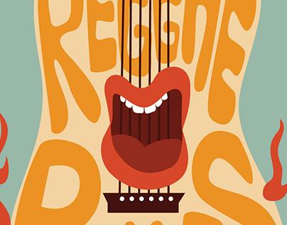 """Reggae Rules""Poster Design, 2014 Mary Anne Pennington"