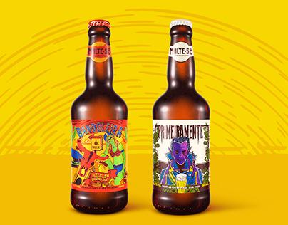 Bandoleira & Primeiramente — Beer label design