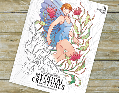 Mythical Creatures - Coloring Book
